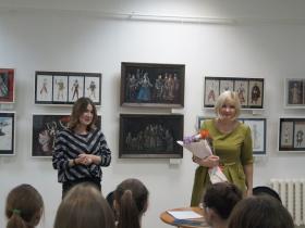 Творческая встреча с художником по костюмам Татьяной Изычевой (фото сделано до начала пандемии)