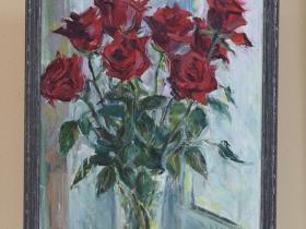 """И. Токарь - """"Розы"""" (2021 г., холст, масло)"""