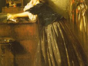 """Константин Маковский - """"Вдовушка"""" (1865 г.,  х.,м., ГРМ)"""
