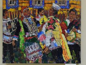 """М. Поляков  - """"Танец на марийской свадьбе"""" (2020 г., холст, масло)"""