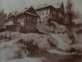 Мясников И.П. Городской пейзаж. 2003 г.