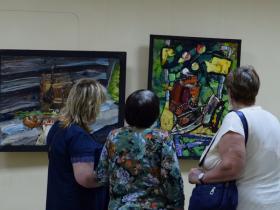 Открытие выставки Михаила Полякова
