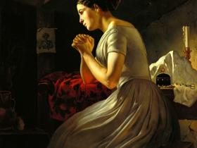"Ростислав Фелицин - ""Вдовушка (Убит)"" (1852 г., х., м., ГРМ)"