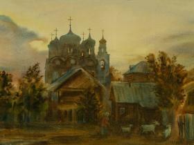 """Товарова-Кошкина Н.Б.  - """"Домой"""" (2008 г., бумага, акварель)"""