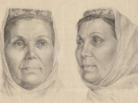 А. Г. Орлов - учебный рисунок 1950-е гг.  (из собрания Орловых)
