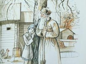 """В. Л. Гальдяев - иллюстрации к произведению Л. Ф. Воронковой """"Девочка из города"""""""
