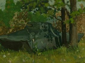 """В. М. Козьмин - """"Ложный танк"""" (1942 г.)"""