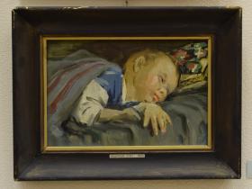 З.Ф. Лаврентьев — Андрюша спит (1959 г., ДВП, м.)