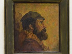 З.Ф. Лаврентьев — Петербургский художник Борис Семёнов (1979 г., ДВП., м.)